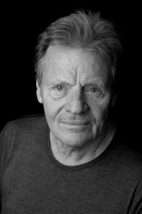 Black and white portrait of blues musician Delbert McClinton, headliner at 2018 W.C. Handy Blues and Barbecue Festival