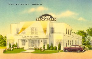 Vintage photo of Club Trocadero in Henderson, Kentucky circa 1940s.